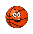 Cartoon happy basketball ball vector