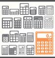 Tools calculator icons set vector