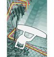 Vintage urban grunge wakeboard vector