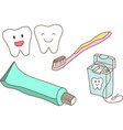 Set of teeth care vector