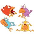 A set of birdies cartoon vector