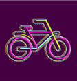 Bicycle on a dark background vector