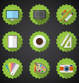 Designers stuff flat icon set include desktop vector