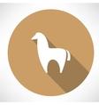 Alpaca icon vector