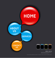 Circles modern web design template vector