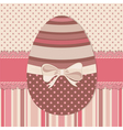 Easter greeting card with chocolate egg vector