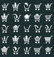 Shopping cart icons set supermarket shopping vector