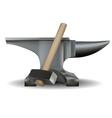 Blacksmiths anvil and hammer vector
