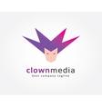 Abstract clown face circles logo icon concept vector