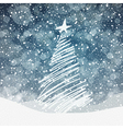 Christmas tree background with copyspace vector