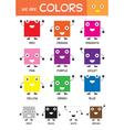 Kids basic colors chart vector