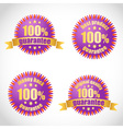 Best product guarantee label stickers vector