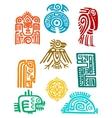 Ancient maya elements and symbols vector