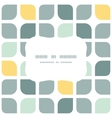 Abstract gray yellow rounded squares frame vector
