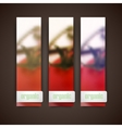 Set of banners with blurred background of bunch of vector