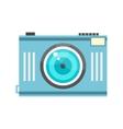 Blue photo camera in retro style vector