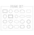 Frame set with laurelsribbons and crowns vector