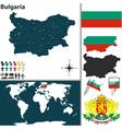 Bulgaria map world vector