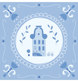 Delft blue home vector