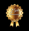 25th anniversary ribbon vector