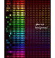 Rainbow equalizer on dark background vector