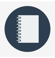 Flat style icon notebook education and science vector