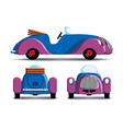 Cartoon purple car vector