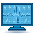 Cardiogram monitor vector