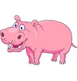 Smiling hippo vector