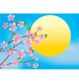 Spring branches and sun vector