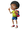 A black schoolboy vector