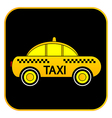Taxi car button vector