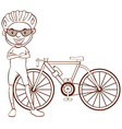 A plain sketch of a cyclist vector