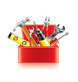 Tools box isolated vector