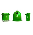 Recycle bins vector