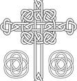 Celtic cross vector