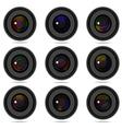 Photography camera lens vector
