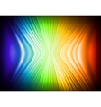 Rainbow colors abstract horizontal lines card vector