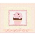 Lovely cupcake design card vector