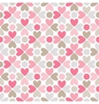 Floral seamless pattern red pink gray brown and vector