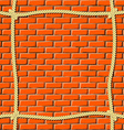 Ropes on the wall vector