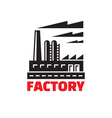 Industrial factory building - logo vector