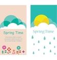 Spring retro poster vector