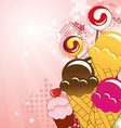 Collection of sweets vector