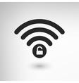 Creative wifi locked vector