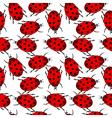 Ladybugs seamless pattern vector