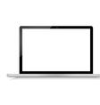 Black modern laptop on white background vector