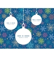 Colorful doodle snowflakes christmas ornaments vector