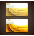 Set of gift cards with blurred background of vector