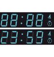 The display a digital clock vector
